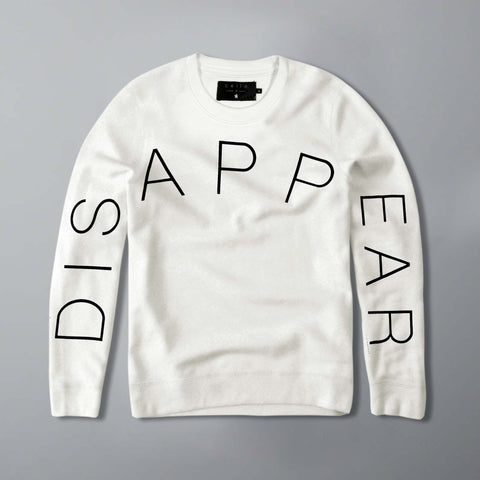 CELIO-disappear 'slim fit' white sweatshirt