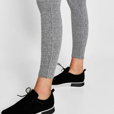 BERSHKA-women grey drawstring sweatpant legging