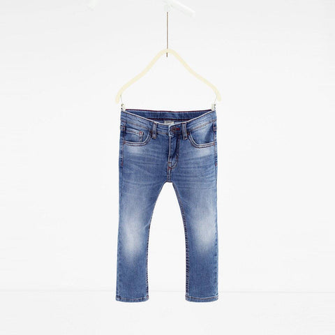 ZARA-boys mid blue stretch denim