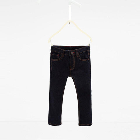 ZARA-boys dark navy 'slim fit' stretch jeans