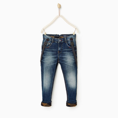 ZARA-boys dark wash 'skinny fit' stretch denim