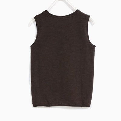 ZARA-boys basic sleeveless tank top
