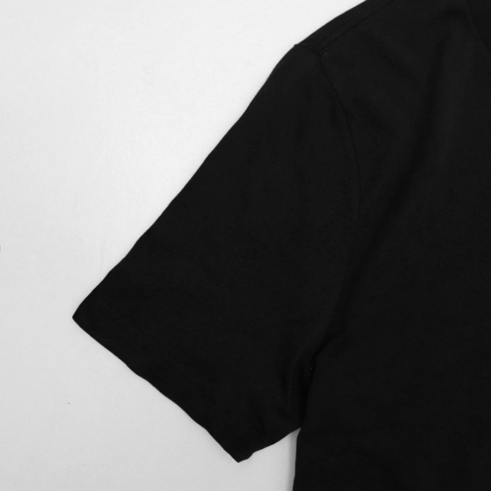 Soft black v-neck cotton t-shirt (1788)
