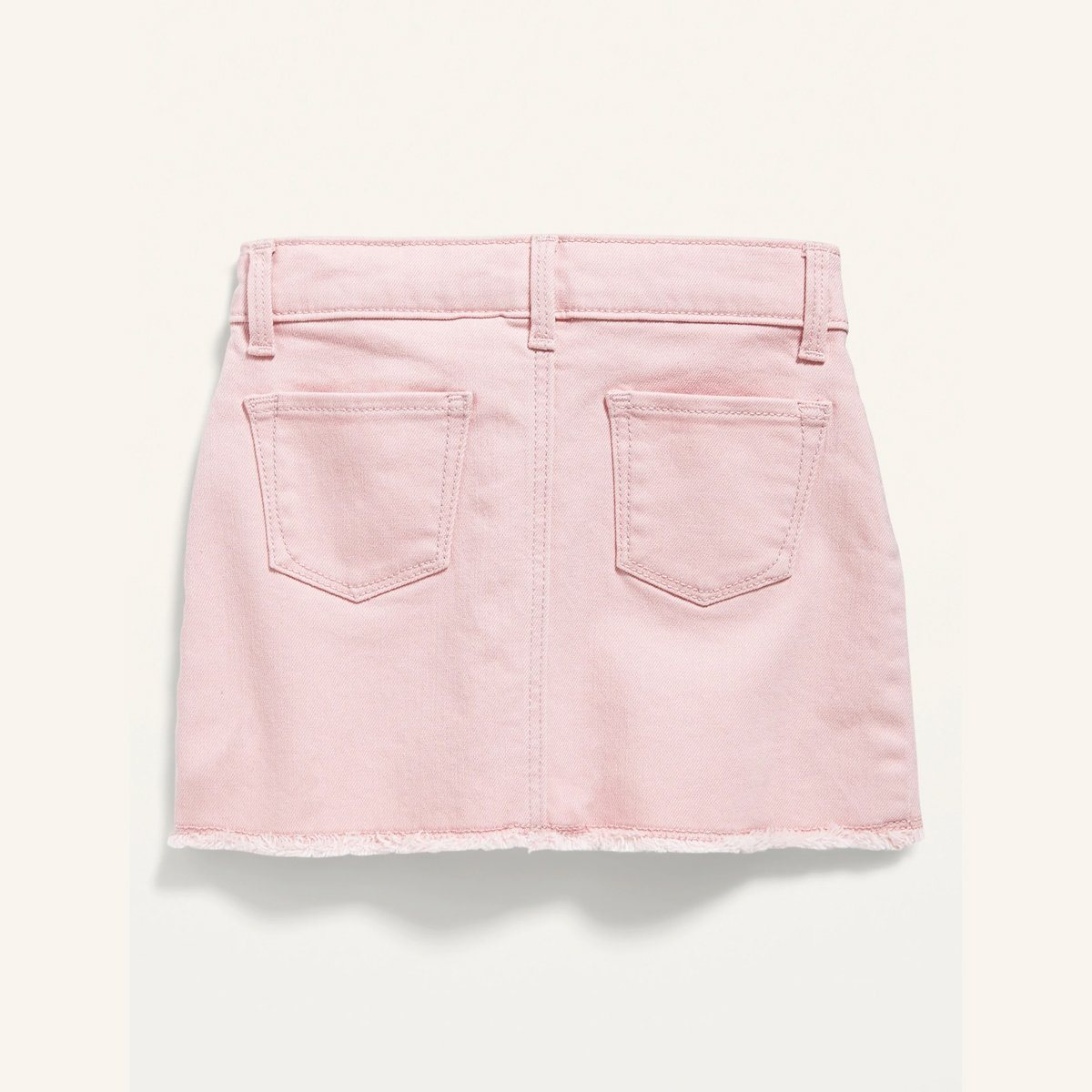 Premium Quality Solid Pink Cotton Twill Hem-pop Skirt For Girls (21062)