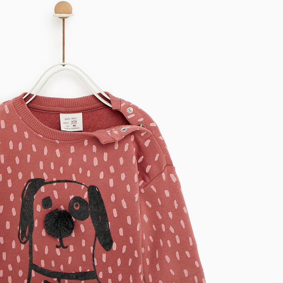 ZARA-kids polka dot sweatshirt (613)