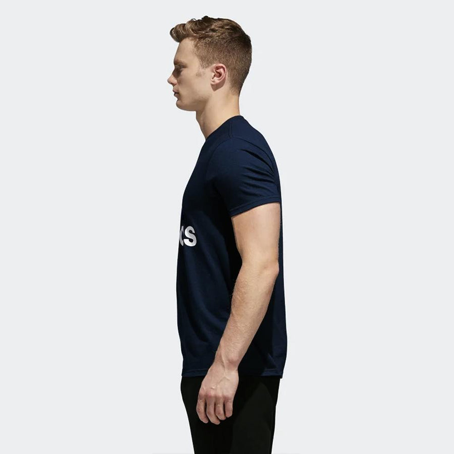 ADIDAS-navy badge of sport classic t-shirt