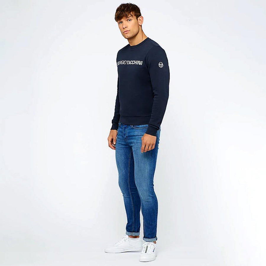 Navy zaman fleece sweatshirt