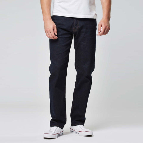 NEXT-dark navy 'straight fit' stretch jeans