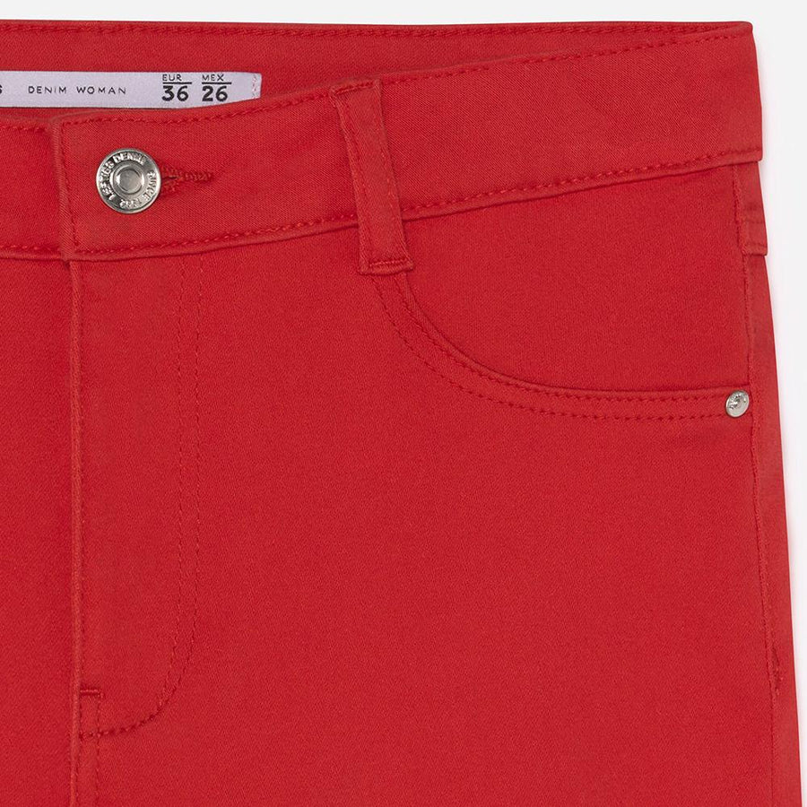 Lft women red 'super skinny' stretch jeans (1584)