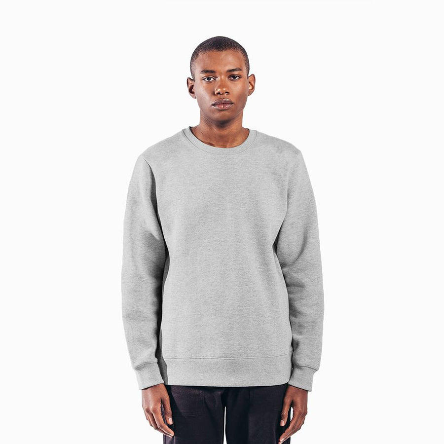 Grey organic cotton heavyweight sweatshirt
