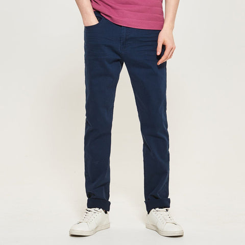 RESERVED-exclusive navy blue 'slim fit' stretch jeans