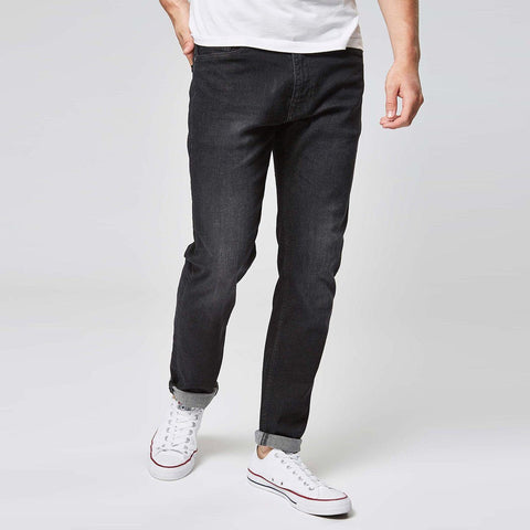 NEXT-washed black 'slim fit' stretch jeans
