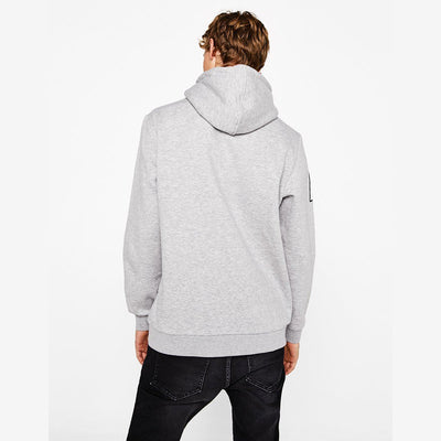 BERSHKA-pulse grey hooded sweatshirt