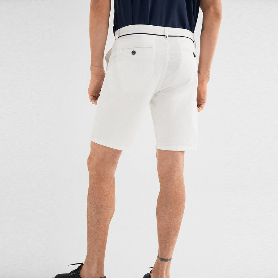 SF-white live in waistband stretch bermuda short (957)