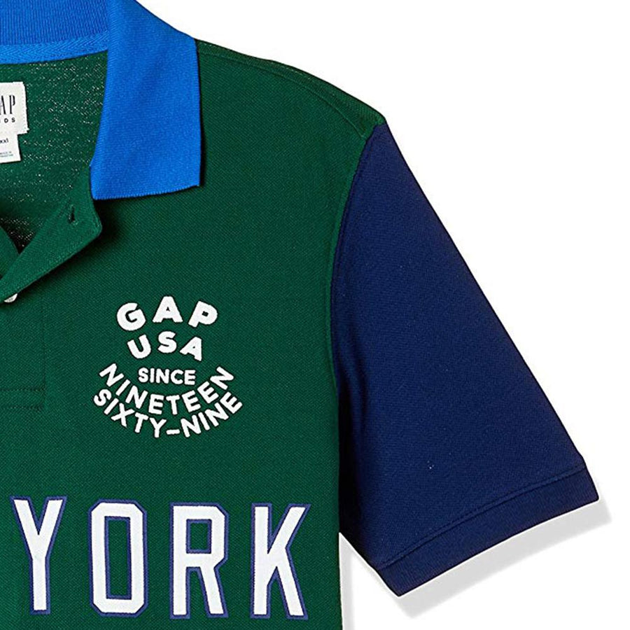Exclusive boys green country name polo (906)