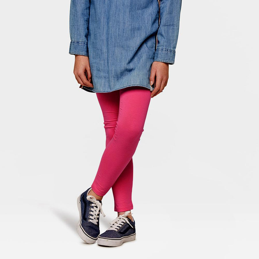 Girls dark pink leggings (885)