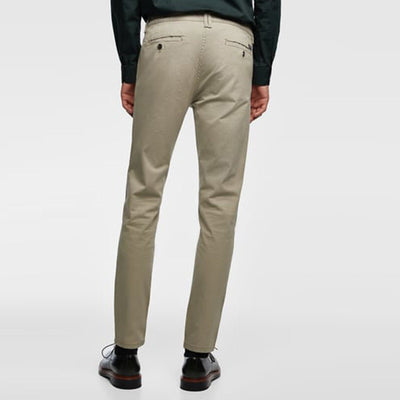 ZARA-exclusive mink 'skinny fit' stretch cotton chino