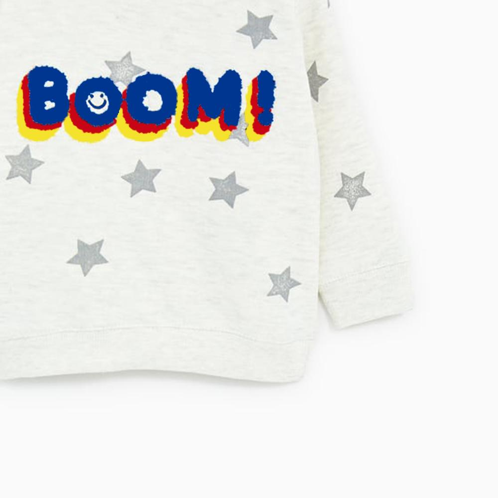 ZR-kids plush printed sweatshirt (619)