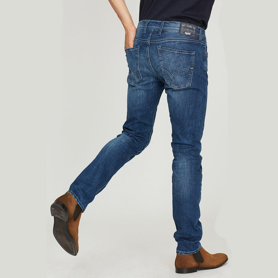 GAS-exclusive blue anders k wk79 'regular slim' stretch jeans