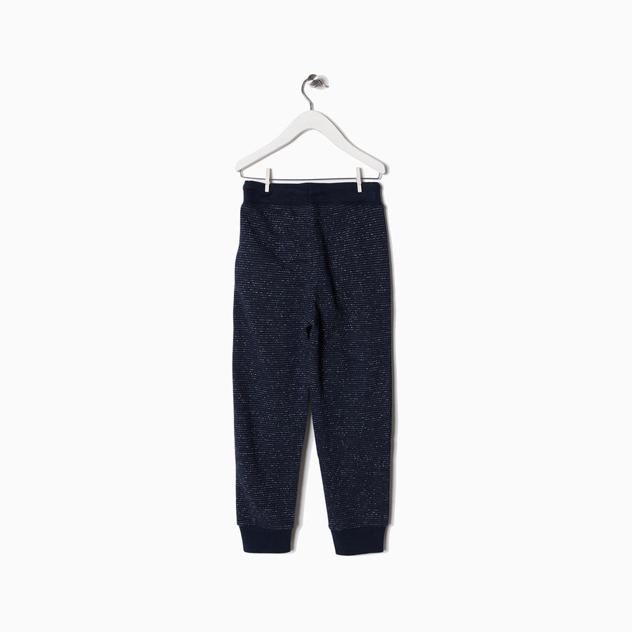 ZIPPY-boys navy terry jogger trouser with zipper pockets