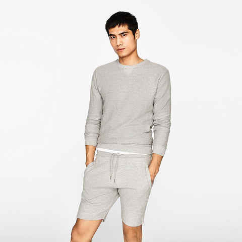 ZARA-basic grey marl bermuda short