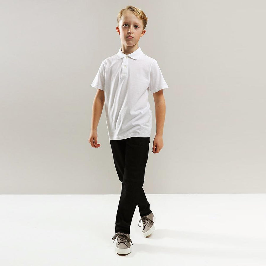 GAP-boys white short sleeve polo (798)