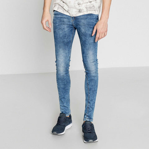PULL&BEAR-random wash 'super skinny' stretch jeans