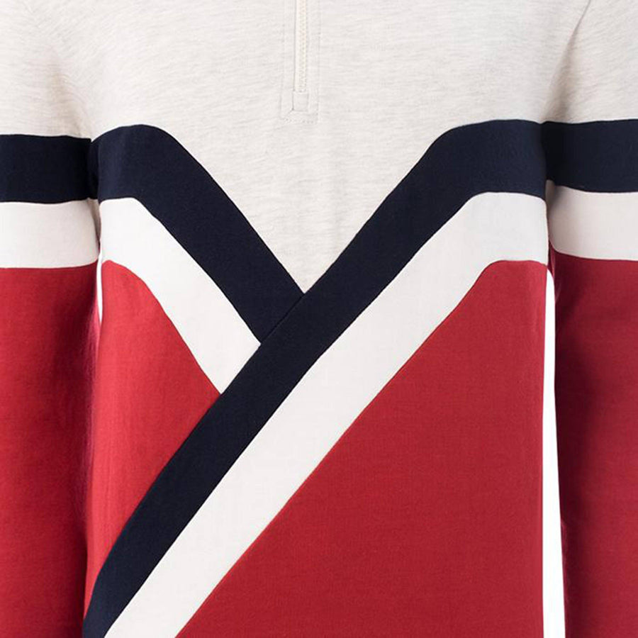 SOUL STAR-retro stripes zip up sweatshirt