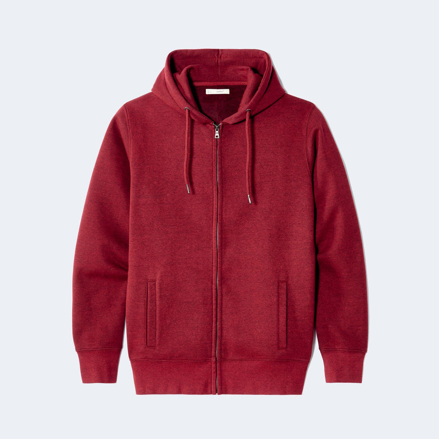 Exclusive maroon hooded zip sweatshirt