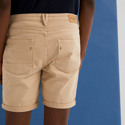 SF-camel clear 'slim fit' stretch bermuda short (963)