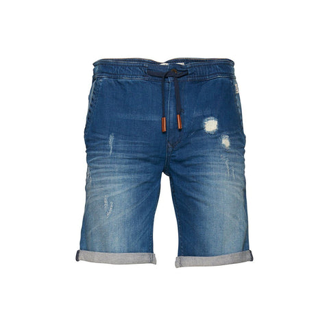 BLEND-mid blue twister 'slim fit' stretch denim short