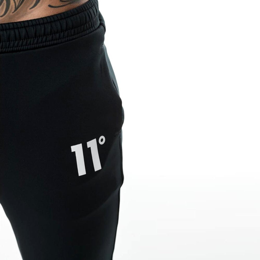 11 DEGREES-exclusive black 'skinny fit' core poly trouser