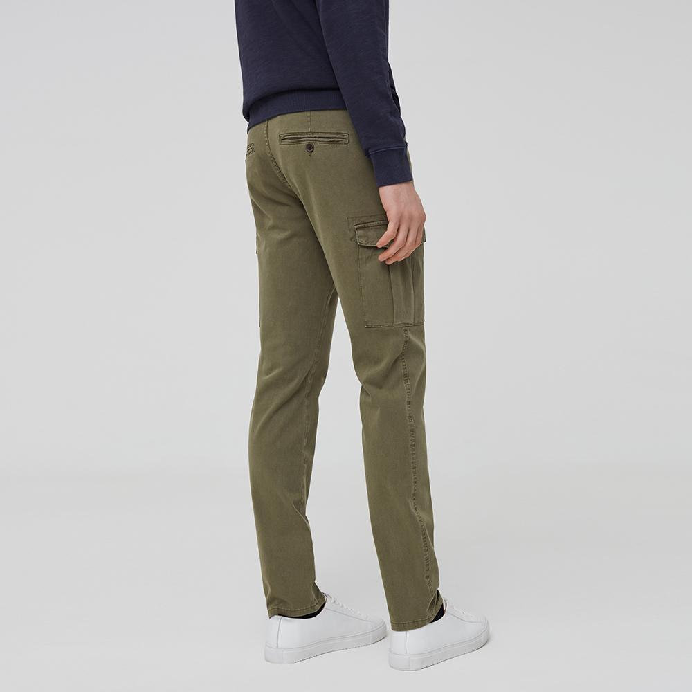Ovs army green stretch cotton cargo trousers (1649)