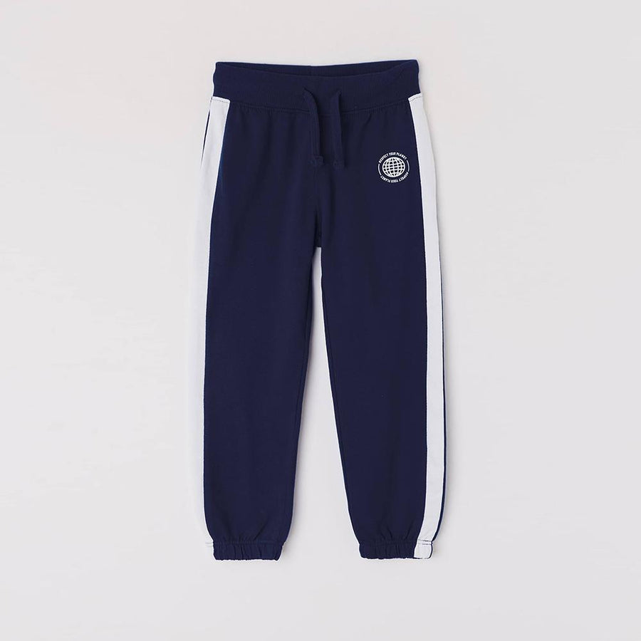 Teranva boys navy joggers with stripe (1495)