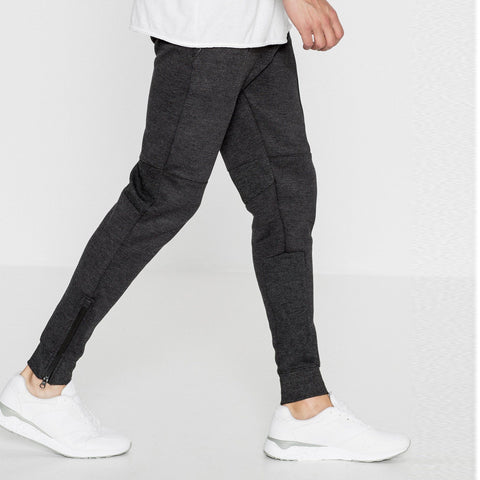 PULL&BEAR-charcoal 'slim fit' jogger trouser with zip