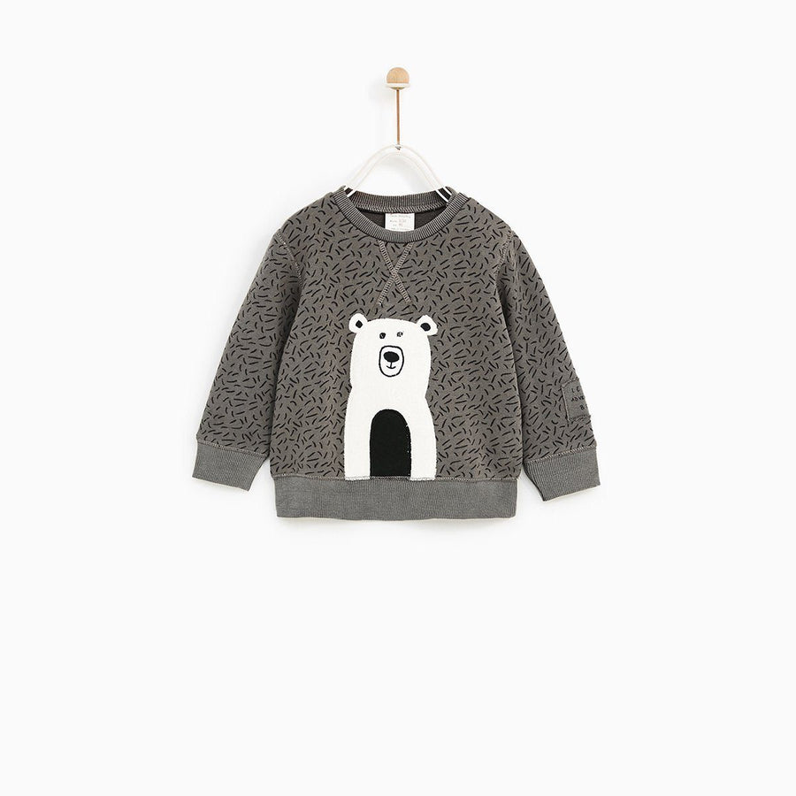 Zr kids stone positional animal sweatshirt (1414)
