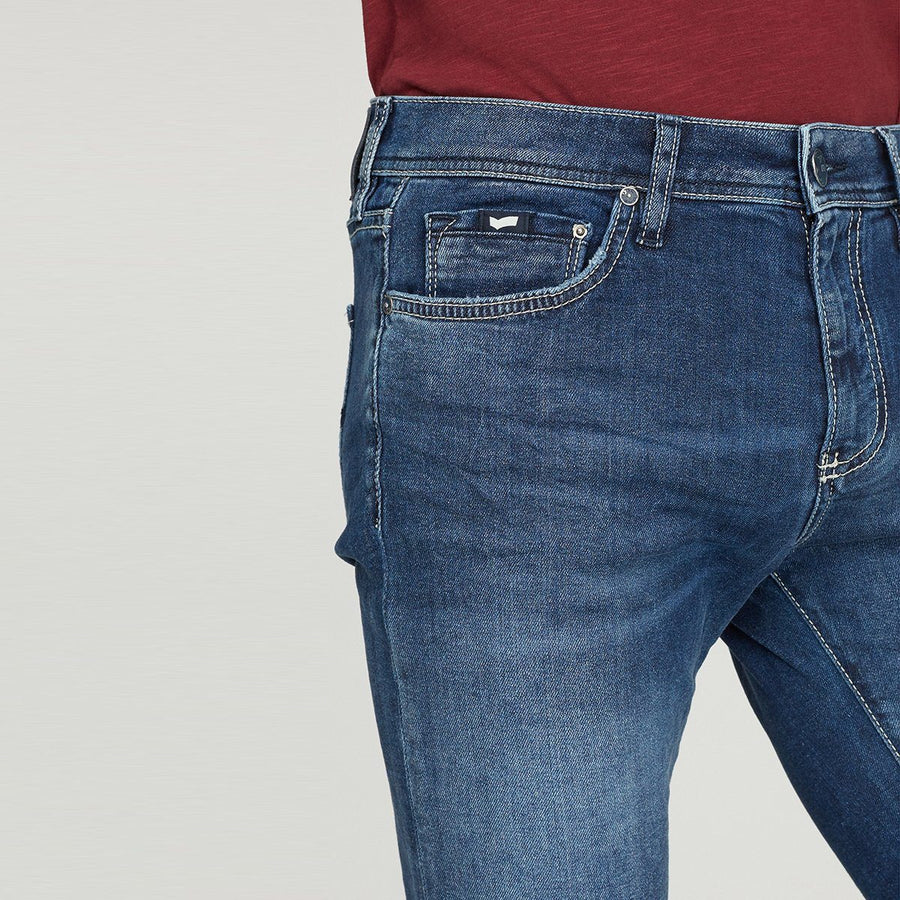 GAS-exclusive sax zip wk79 'skinny fit' stretch jeans