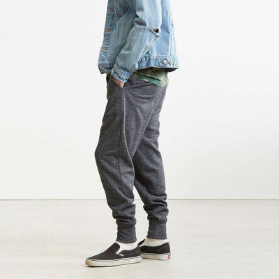 URBAN OUTFITTERS-charcoal twisted fleece Jogger Pant