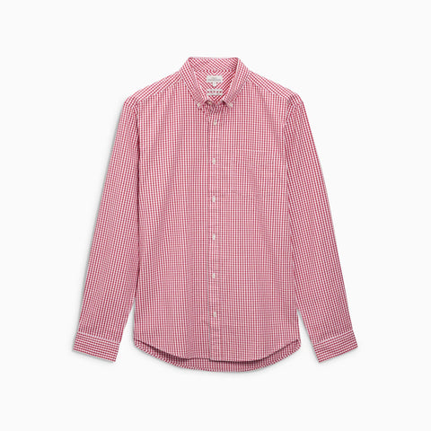 NEXT-gingham check button down shirt