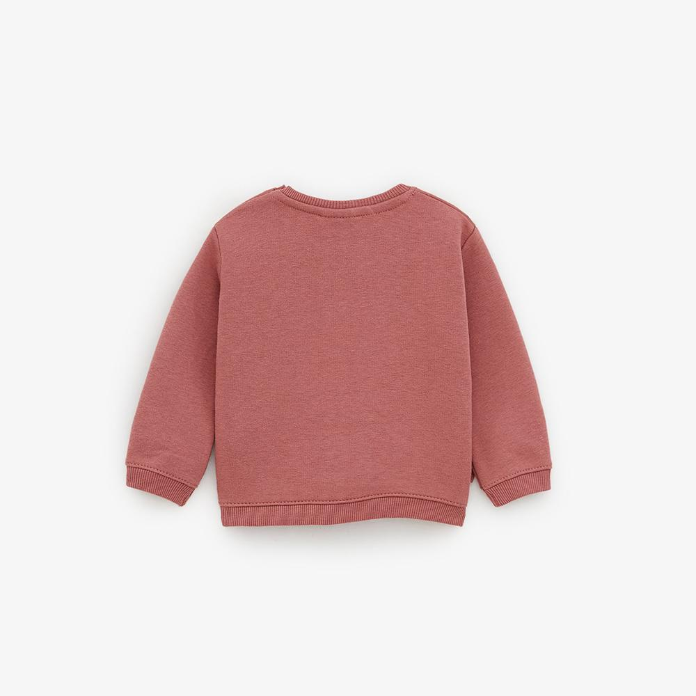 Zr girls dark pink sweatshirt with bows (1529)