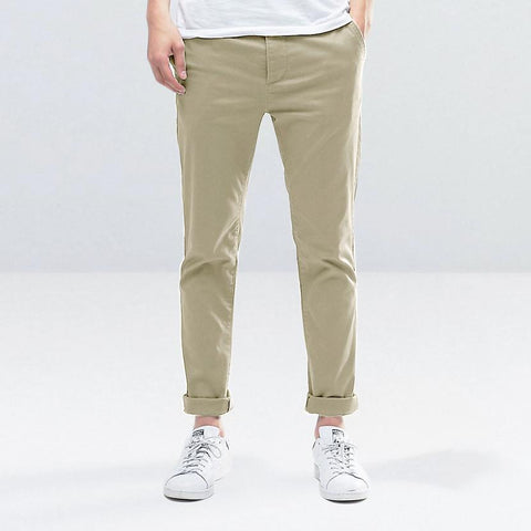 MARC FENDI-fone low rise 'skinny fit' un-stretchy paper cotton light weight chino