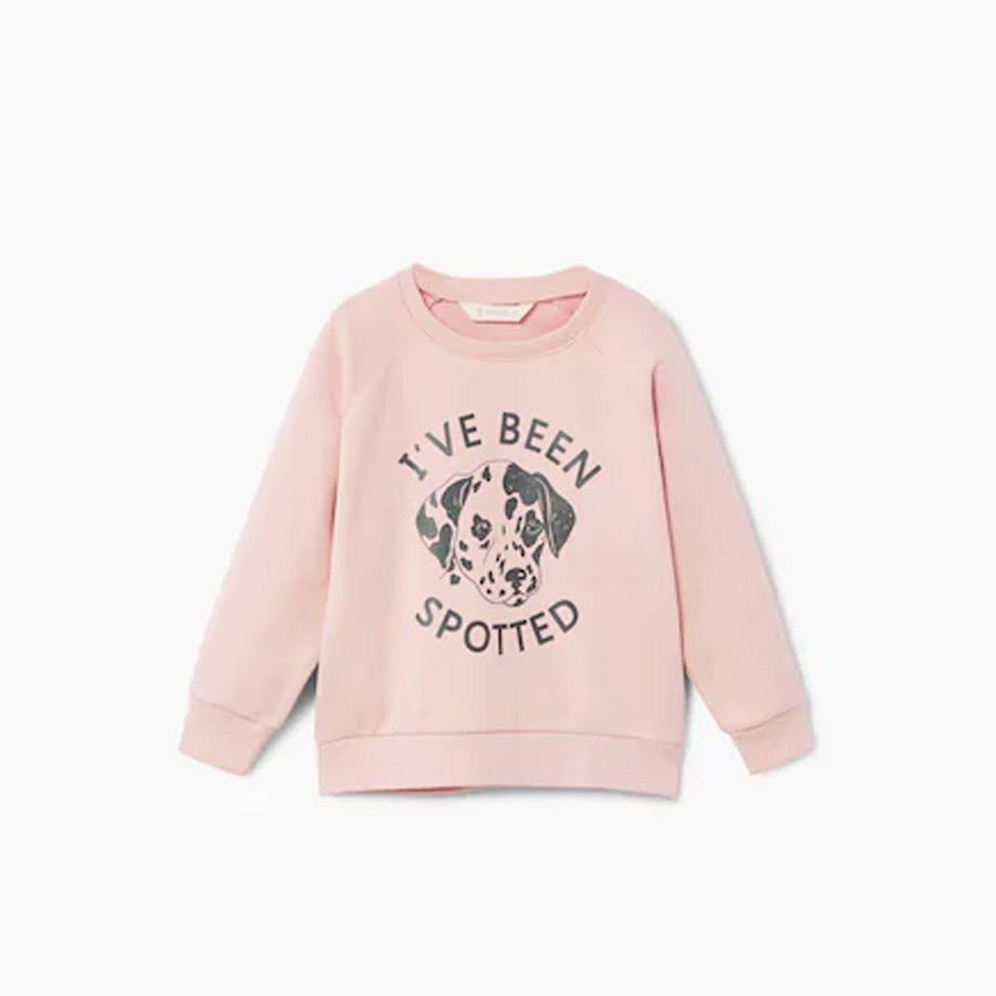 Girls pastel pink sweatshirt (429)