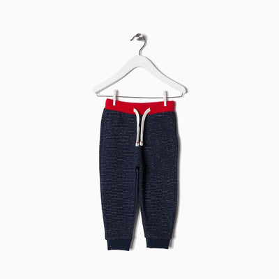 ZIPPY-kids navy terry jogger trouser with contrast rib