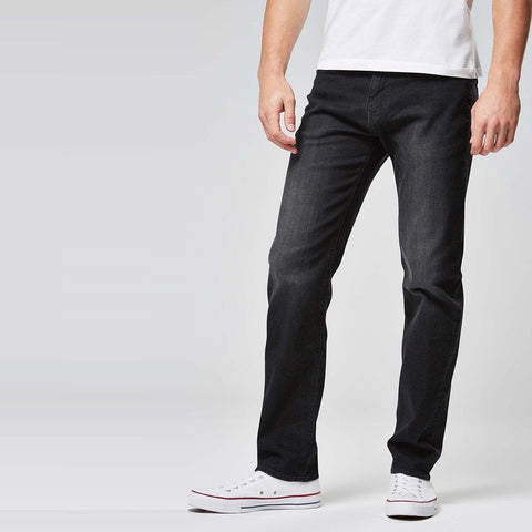 NEXT-washed black 'straight fit' stretch jeans