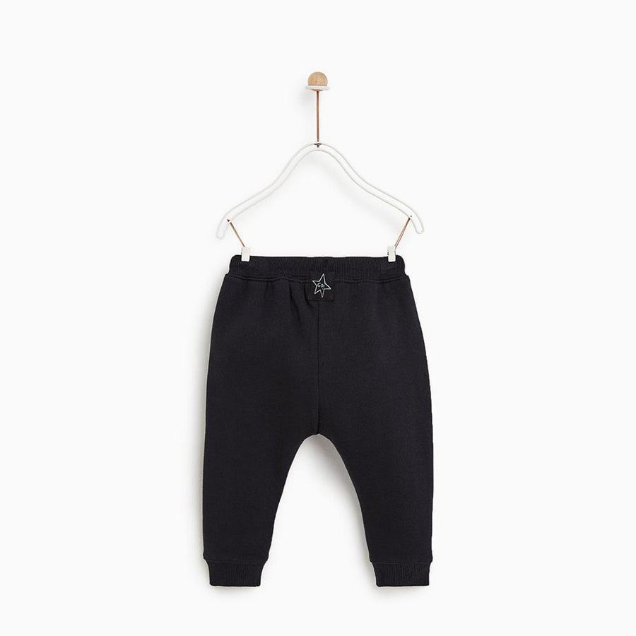 Zr kids black 'slim fit' terry jogger trouser (1480)