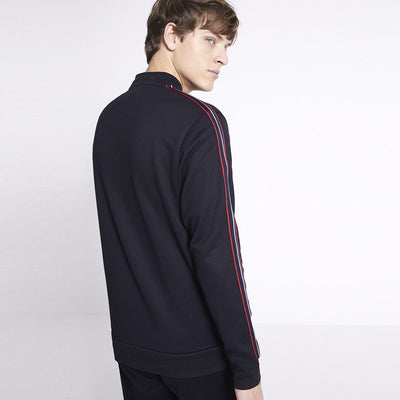 CELIO-exclusive navy sport zip striped jacket