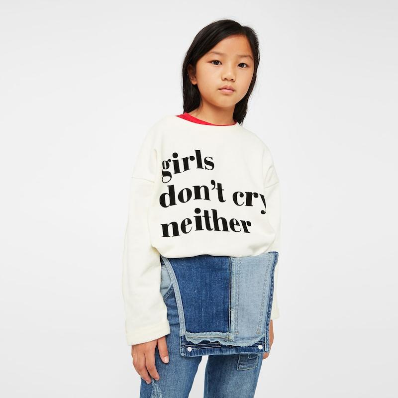 Mng girls ecru message cotton sweatshirt (1410)