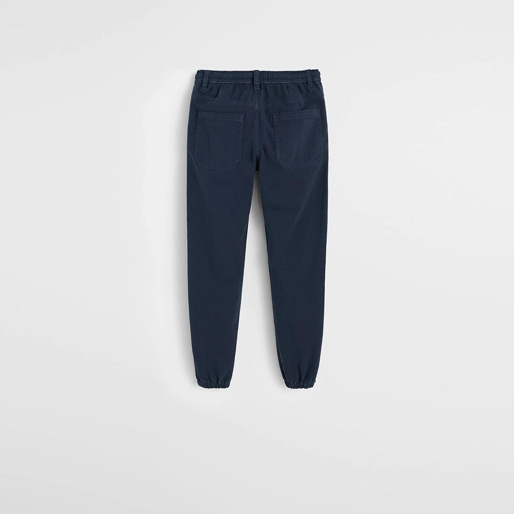 Mngo boys ink blue cotton jogger trousers