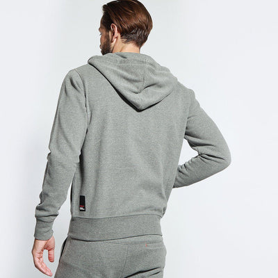 DIVERSE-grey melange evb hooded zipper (LSF Fleece)