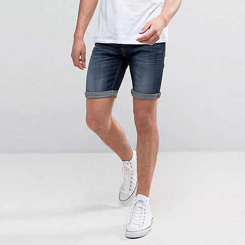 BLEND-dark wash 'slim fit' stretch denim short